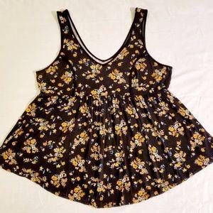 Torrid - Black Floral Sleeveless Top